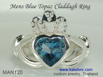 mens heart ring claddagh