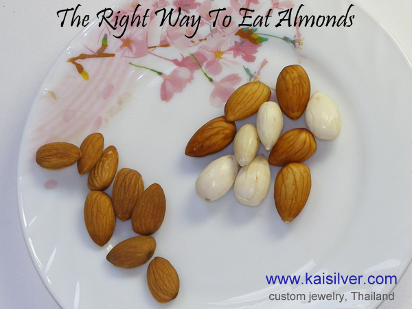 almonds eating take off skin