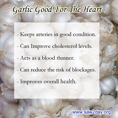 garlic heart health benefits